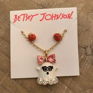 BETSEY JOHNSON GHOST NECKLACE SET